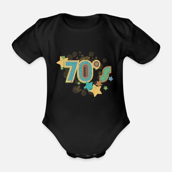 2e6d5ada Jul Babyklær - 70-talls designskjorte - Økologisk kortermet babybody svart