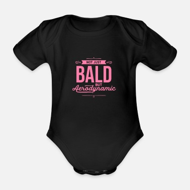 Haircut Hairstyle Bald Bearer Bald Baldie No hair - Organic Short-Sleeved Baby Bodysuit