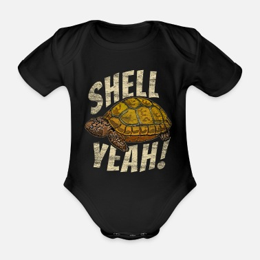Children turtle - Organic Short-Sleeved Baby Bodysuit
