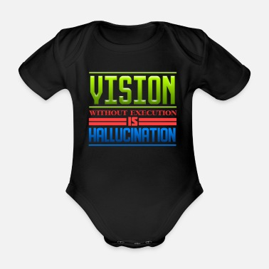 Hallucination Hallucination of vision - Organic Short-Sleeved Baby Bodysuit