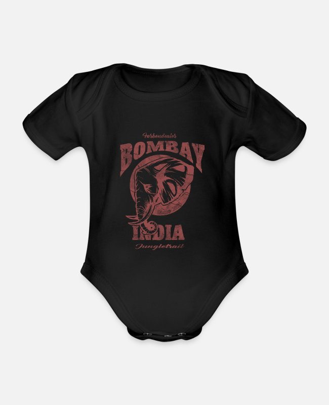 Trail Baby Bodys - Bombay Jungle Trail r - Baby Bio Kurzarmbody Schwarz