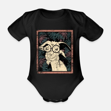 Sheep Goat cattle gift - Organic Short-Sleeved Baby Bodysuit
