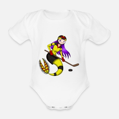 Meejungfrau Hockey player ice hockey player as a gift - Organic Short-Sleeved Baby Bodysuit