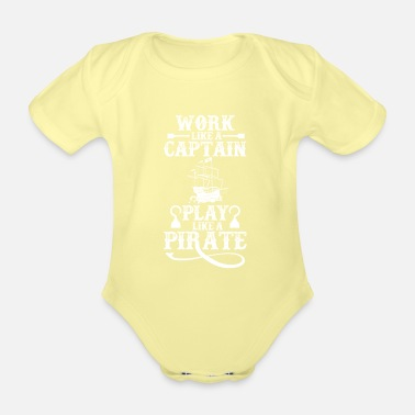 Pirate Pirate pirate pirate pirate head piracy - Organic Short-Sleeved Baby Bodysuit