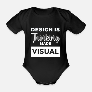 Cool Design Is Thinking Made Cadeau graphique visuel - Body Bébé bio manches courtes