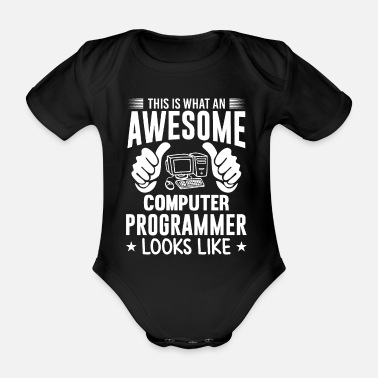 THIS WHAT COMPUTER programmer pc computer science - Organic Short-Sleeved Baby Bodysuit