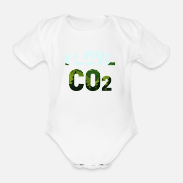 Dioxide CO2 carbon dioxide - Organic Short-Sleeved Baby Bodysuit