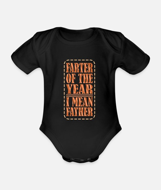 Birthday Baby Clothes - Dad Dad Dad's Gift Dad Father's Day Birthday - Organic Short-Sleeved Baby Bodysuit black