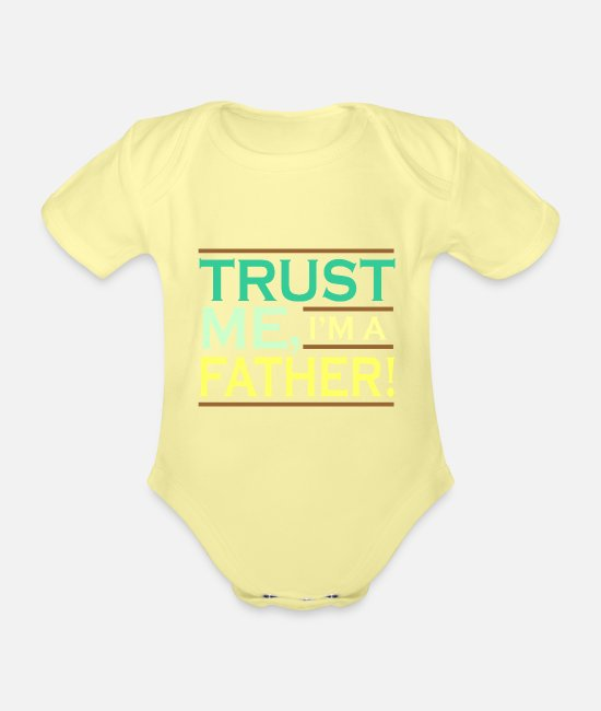 Dad Baby Clothes - Dad Dad Dad's Gift Dad Father's Day Birthday - Organic Short-Sleeved Baby Bodysuit washed yellow