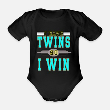 Loading I have twins - Organic Short-Sleeved Baby Bodysuit
