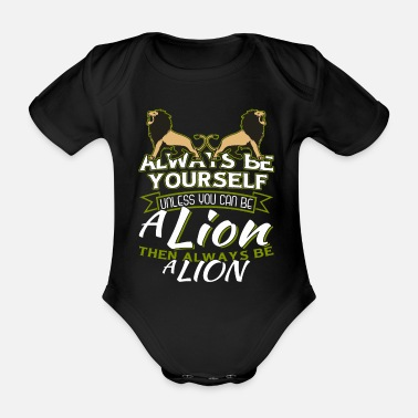 Courage lion - Organic Short-Sleeved Baby Bodysuit