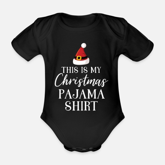 Gift Idea Baby Clothes - Christmas outfit - Organic Short-Sleeved Baby Bodysuit black