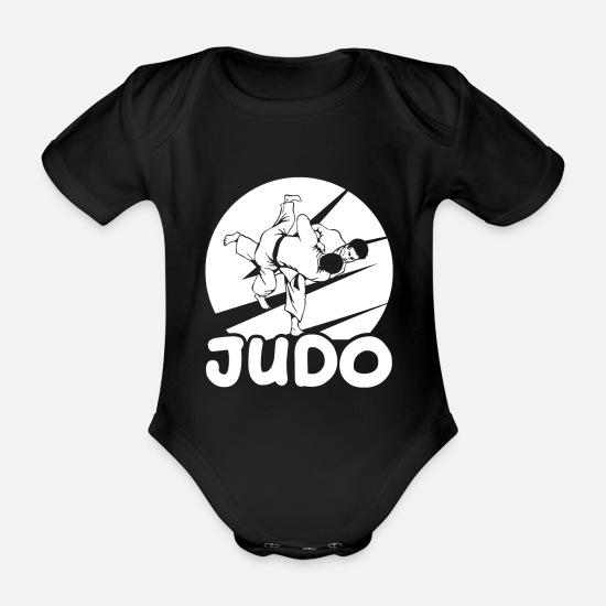 Capoeira Baby Clothes - Martial Arts Judo Teacher Trainer Black Belt - Organic Short-Sleeved Baby Bodysuit black