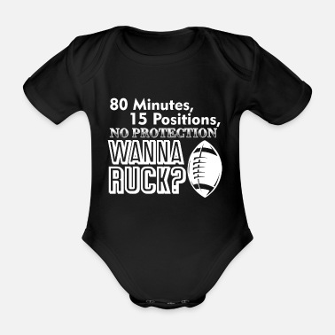 Ruck Rugby Wanna Ruck - Organic Short-Sleeved Baby Bodysuit
