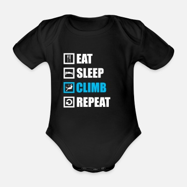 Mountain Mountaineering Mountaineer Climbing Climbing Mountains - Organic Short-Sleeved Baby Bodysuit