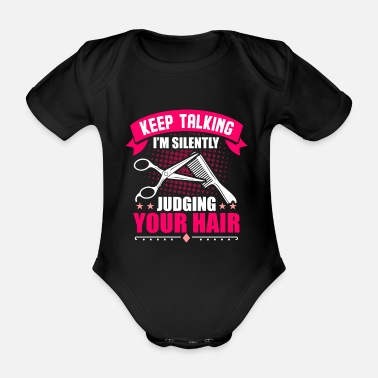 Hairstyle Hairdresser gift salon - Organic Short-Sleeved Baby Bodysuit