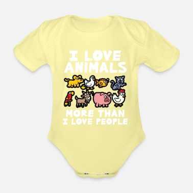 Animal Love I LOVE ANIMALS animal lover animal love animal protection - Organic Short-Sleeved Baby Bodysuit