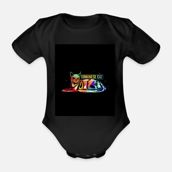 Birthday Baby Clothes - Tonkinese - Organic Short-Sleeved Baby Bodysuit black