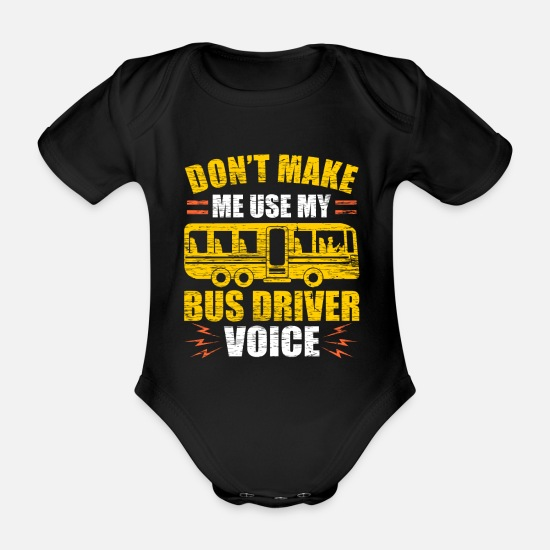 Bus Baby Clothes - bus driver - Organic Short-Sleeved Baby Bodysuit black