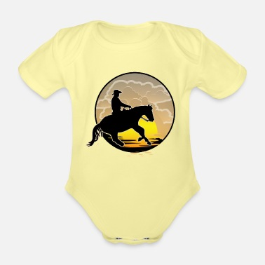 Western Riding Western riding - Organic Short-Sleeved Baby Bodysuit
