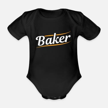 Bakery Bakery bakery confectioner - Organic Short-Sleeved Baby Bodysuit