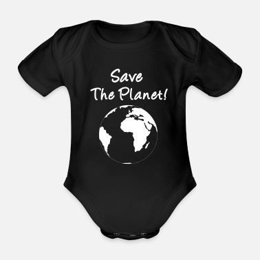 Planet Save The Planet! - Økologisk kortærmet babybody