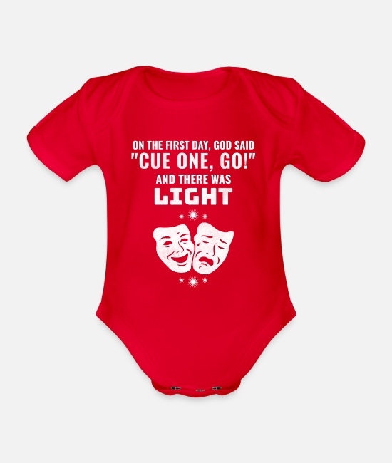 Actor Baby Clothes - Funny Drama Director Cue One Go And There Was - Organic Short-Sleeved Baby Bodysuit red