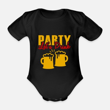 Birthday party - Organic Short-Sleeved Baby Bodysuit
