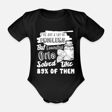 Essential Oil Essential Oil Funny Essential Oil - Organic Short-Sleeved Baby Bodysuit