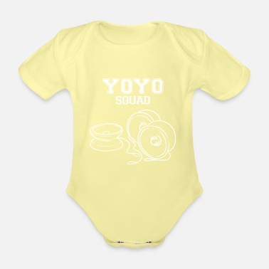 Brain Yoyo Squad Hobby Yo-Yo retro saying - Organic Short-Sleeved Baby Bodysuit