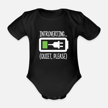 Humour Introverted shy friend Batter - Organic Short-Sleeved Baby Bodysuit