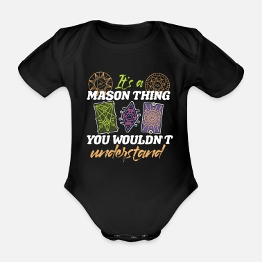 Free Masonic - Organic Short-Sleeved Baby Bodysuit