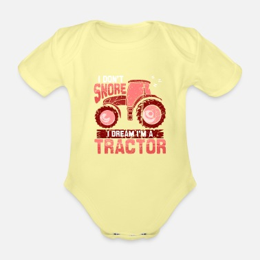 Farmer Funny gift farmer chicken tractor shirt - Organic Short-Sleeved Baby Bodysuit
