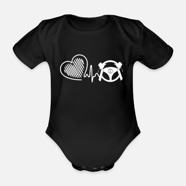 Driver Driver Driver Heartbeat - Organic Short-Sleeved Baby Bodysuit