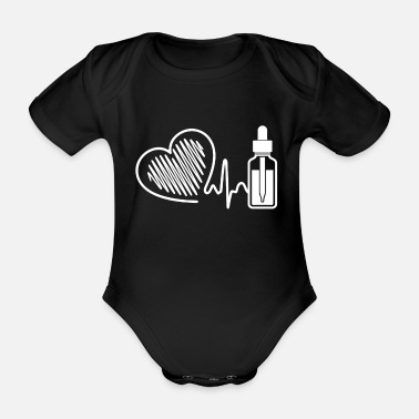 Oil Spill Essential Oil Essential Oil Heartbeat - Organic Short-Sleeved Baby Bodysuit