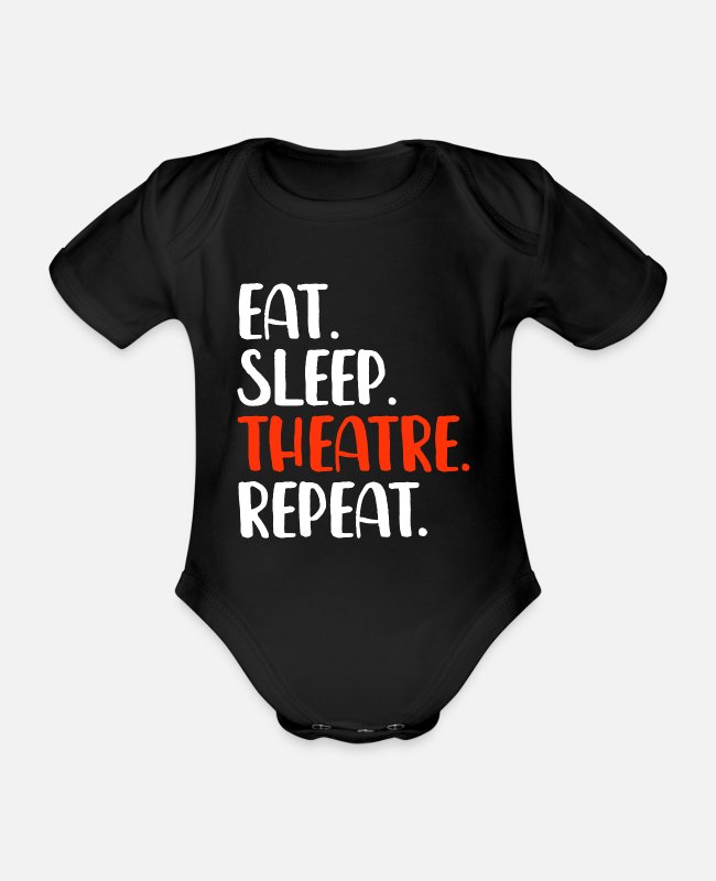 Drama Baby Bodysuits - Theater actress Actress acting - Organic Short-Sleeved Baby Bodysuit black