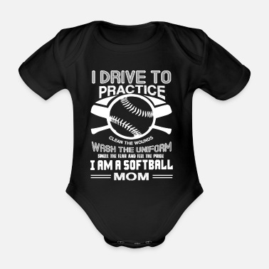 Softball Softball Ich bin eine Softball-Mutter - Baby Bio Kurzarmbody