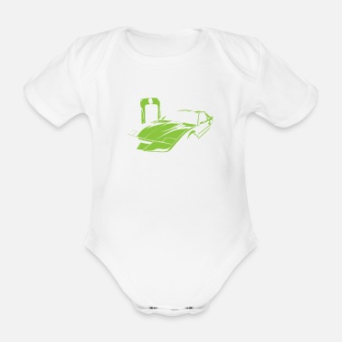 Electric Car electric car - Organic Short-Sleeved Baby Bodysuit