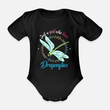 Fly-insect Dragonfly girl - Organic Short-Sleeved Baby Bodysuit