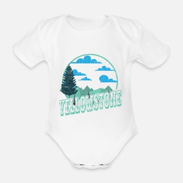 Helped Dome Yellowstone National Park Outdoor Hiking - Organic Short-Sleeved Baby Bodysuit