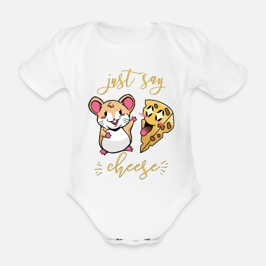 Just Say Cheese For Kids The Mouse Loves Cheese I - Organic Short-Sleeved Baby Bodysuit