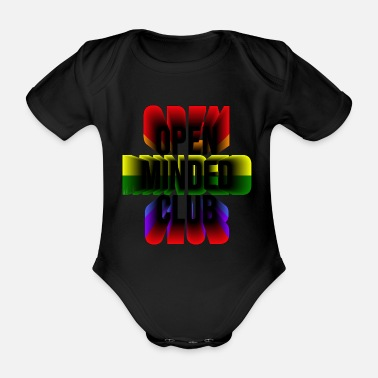 Frank Open minded club - Organic Short-Sleeved Baby Bodysuit