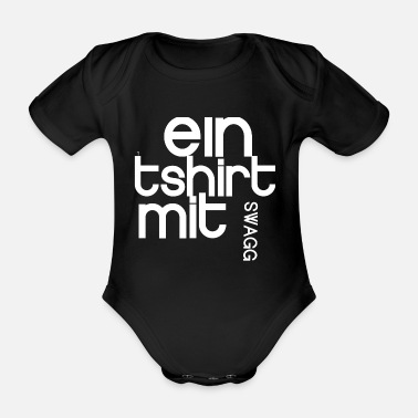 Swagg swagg tee Cool Nerd Funny saying - Organic Short-sleeved Baby Bodysuit