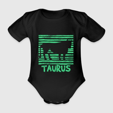 star sign Taurus - Organic Short-sleeved Baby Bodysuit