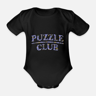 Puzzle Puzzle Club - Organic Short-sleeved Baby Bodysuit