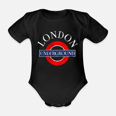 Underground London Underground - Organic Short-Sleeved Baby Bodysuit