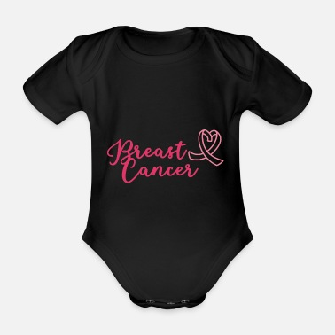Mummie Breast cancer treatment therapy slogan saying shirt - Organic Short-Sleeved Baby Bodysuit