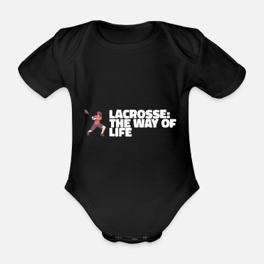 Torwart LACROSSE: THE WAY OF LIFE Geschenke - Baby Bio Kurzarmbody