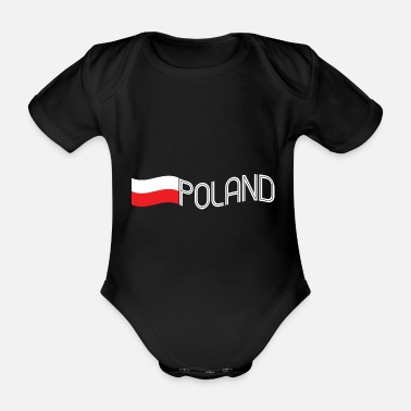 Poland Poland - Organic Short-sleeved Baby Bodysuit