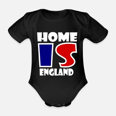 Edinburgh Home is England - Organic Short-Sleeved Baby Bodysuit